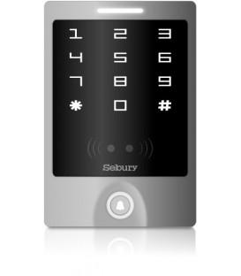 Czytnik kart (13,56 MHz Mifare) i zamek kodowy z kontrolerem dostępu i interfejsem Wiegand - Sebury STW-M